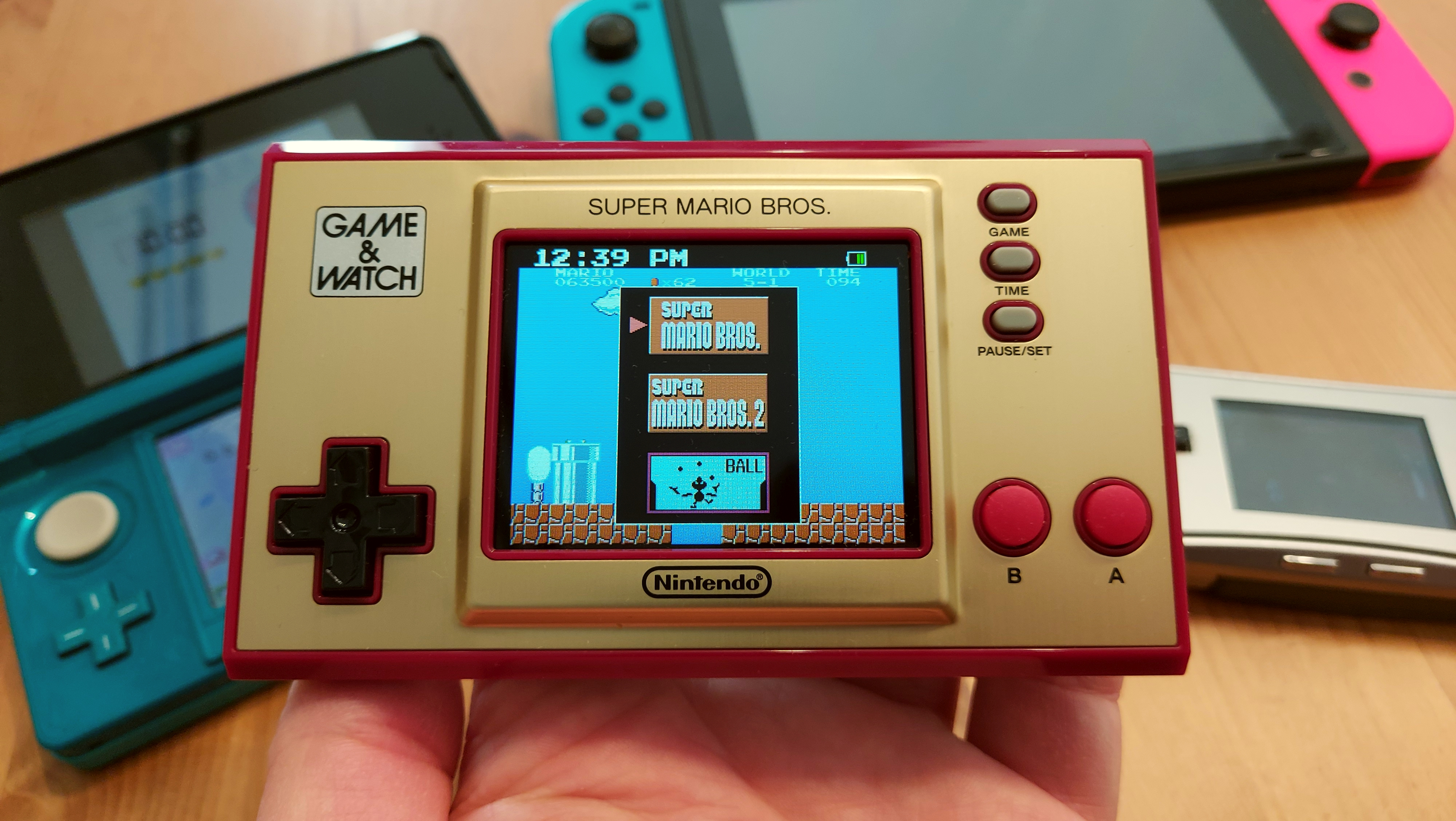Game & Watch: Super Mario Bros: The collector's item in the test