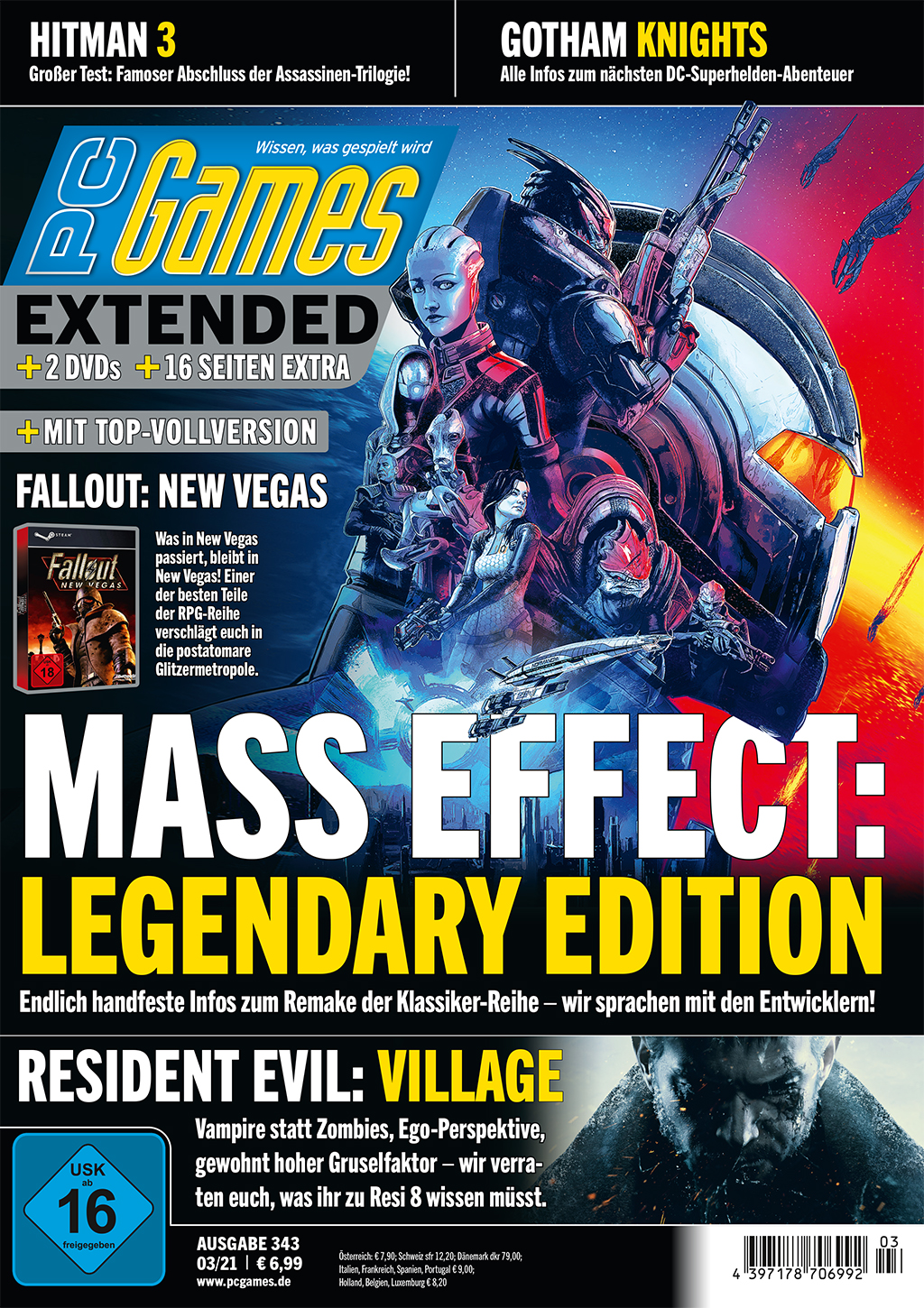 PC Games 03/21 with Mass Effect: L.E., Resident Evil 8 and much more. m.