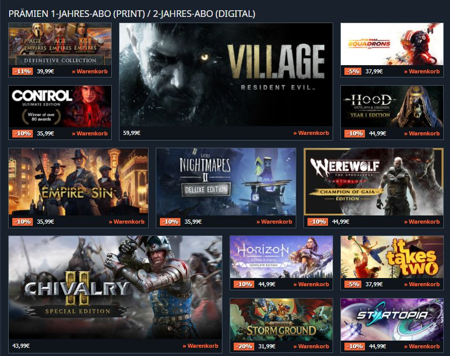 PC Games Digital Subscription: Two-year digital subscription + free advertising + game bonus