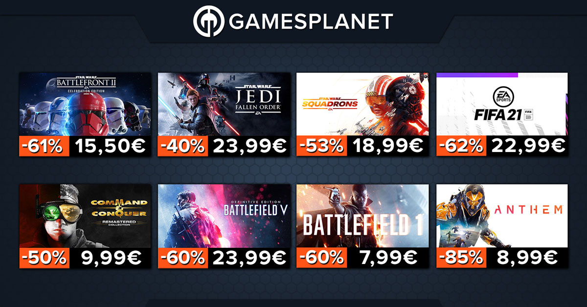 Gamesplanet Deals: Lots of PC games on offer - Star Wars, Battlefield and F1 2020