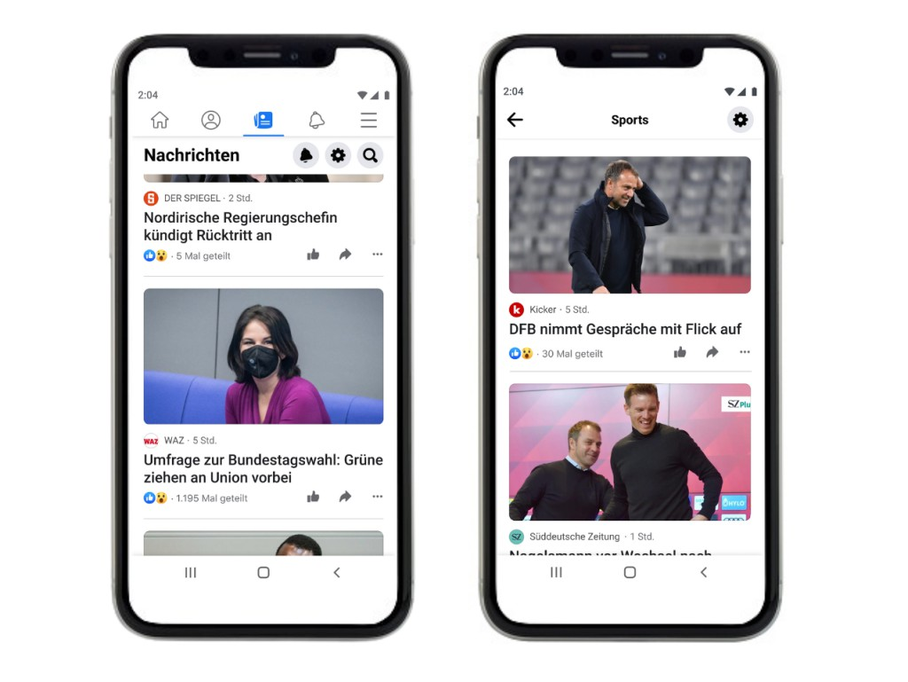 Facebook News: News portal also starts in Germany