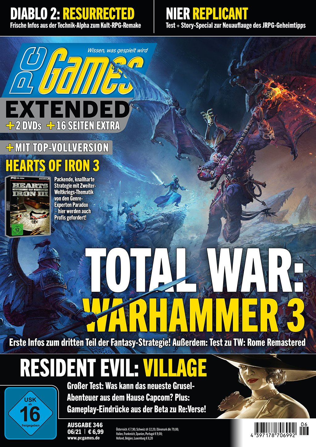 PC Games 06/21 with Total War: Warhammer 3, Resident Evil: Village and much more. m.