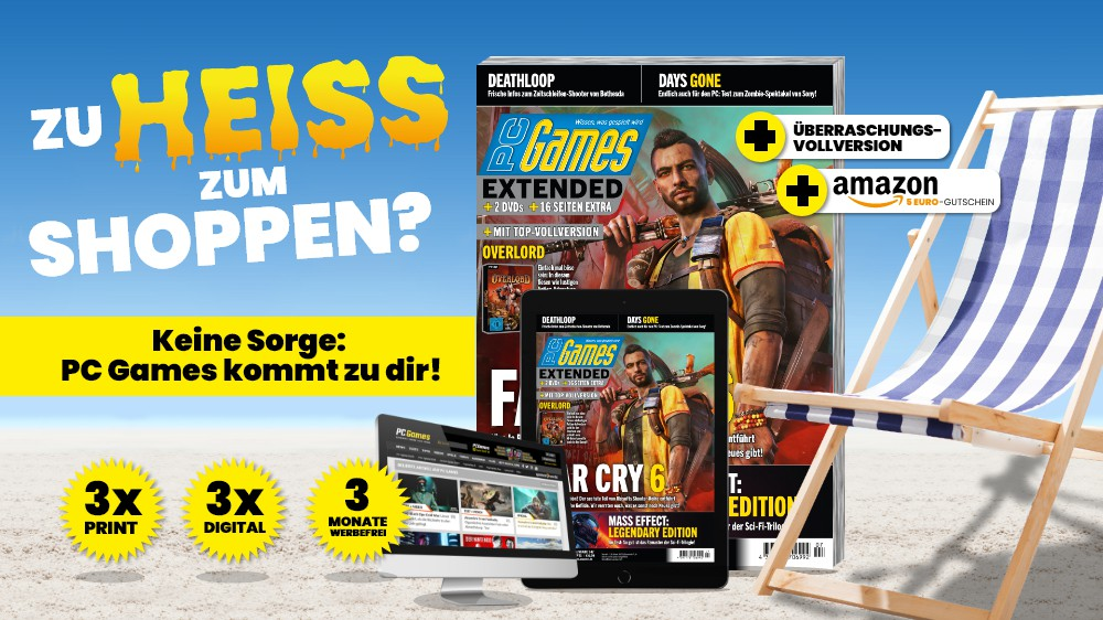 PC Games as a trial subscription: Try three issues and receive a surprise full version + Amazon voucher!