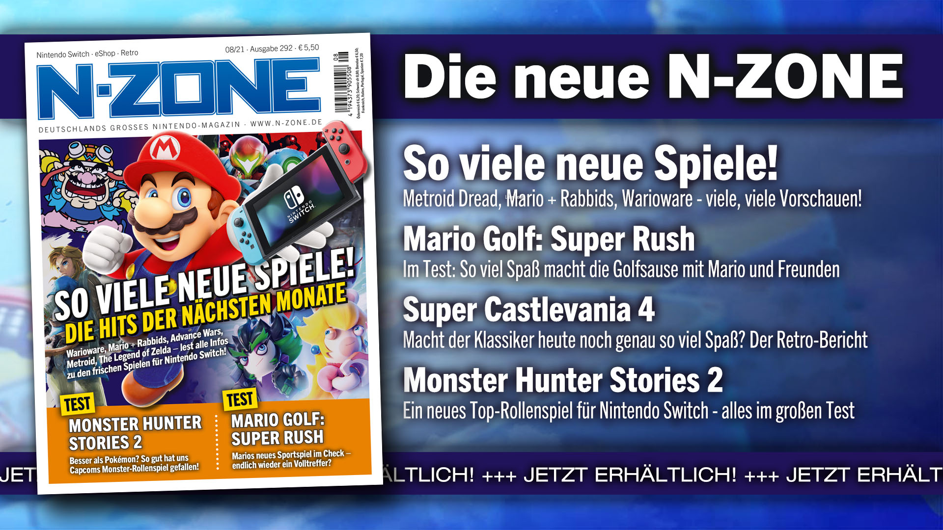 N-ZONE 08/21: Breath of the Wild 2, Mario Golf and much more