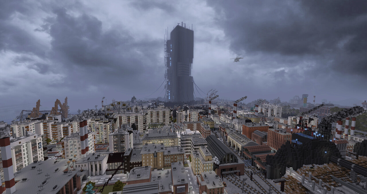Minecraft: Complete game world of Half-Life 2 on one map