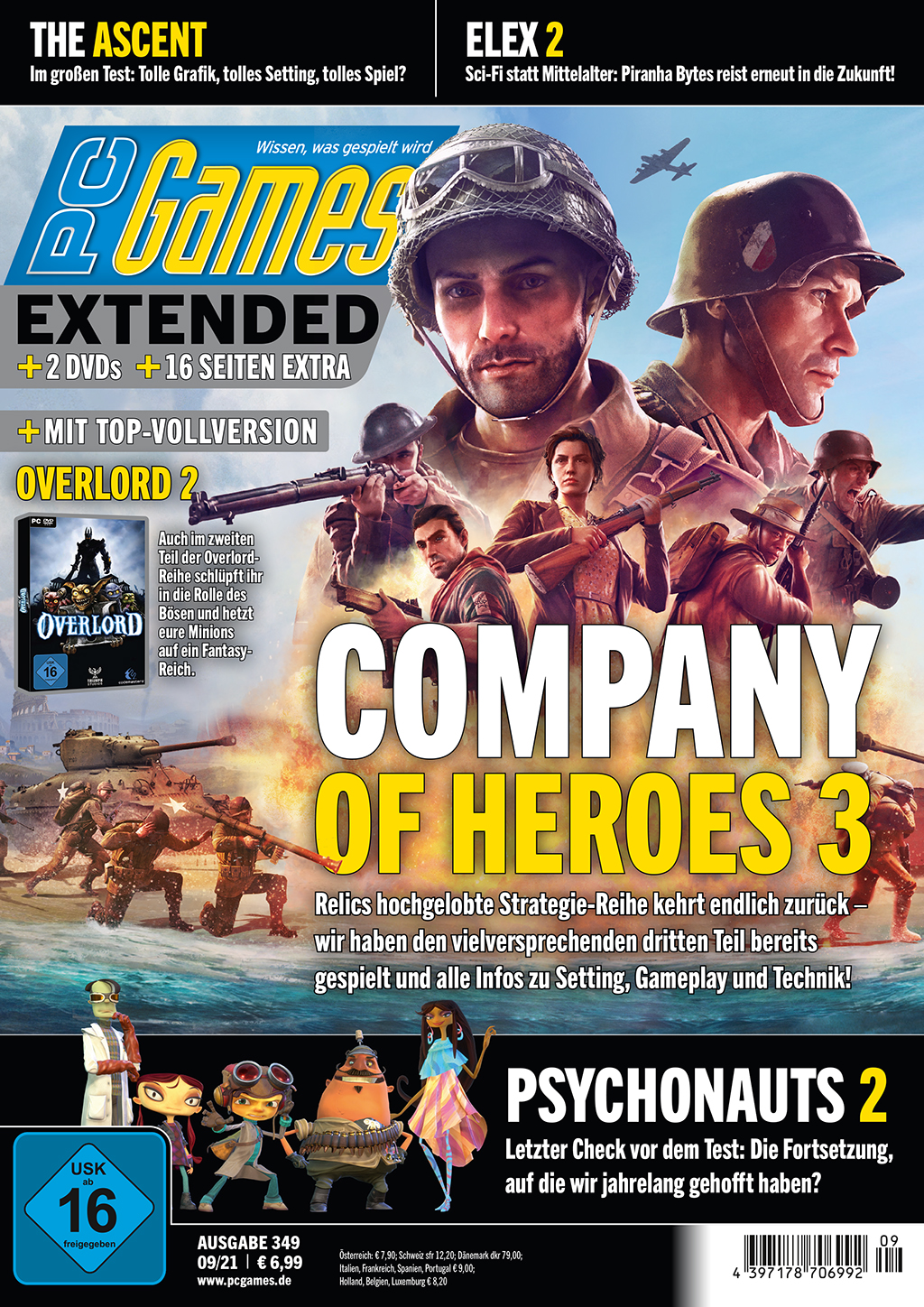 PC Games 09/21 with Company of Heroes 3, Psychonauts 2, Elex 2 and many more!