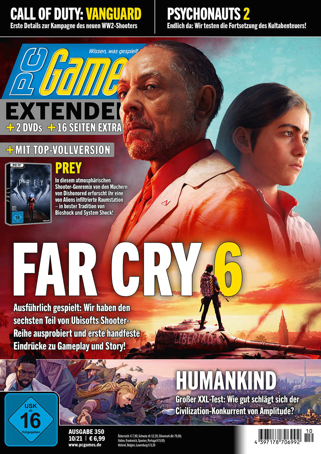 PC Games 10/21 with the title topic Far Cry 6, Humankind in the test and much more. m.