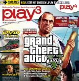play³ 9/13 mit Titelstory GTA 5, Beyond: Two Souls, play4-Sonderteil und Gamescom-Guide