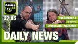 Der Video-Newsüberblick: The Witcher 3: Gratis-DLCs, Evolve, Dragon Age - Games TV 24 Daily