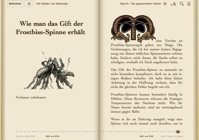 Skyrim: Alle Bücher, Rezepte und mehr zum Download für iPad, iPhone ...